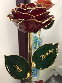Gold Dipped Red Rose